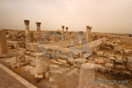 Ancient jordan roman amman block.