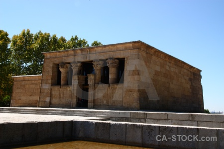Ancient temple building spain debod.