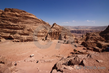 Ancient tomb rock middle east petra.