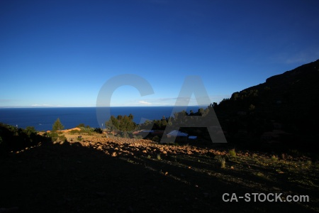 Andes altitude lake peru island.
