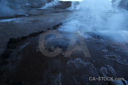 Andes chile atacama desert geyser el tatio.