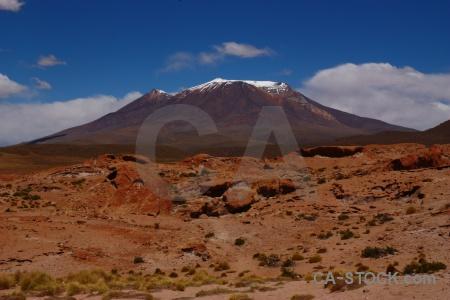 Andes cloud bolivia snowcap landscape.