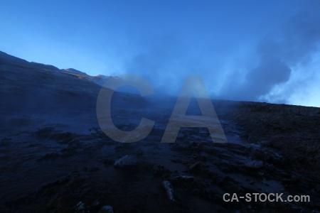 Andes el tatio steam geyser chile.