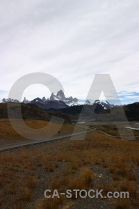 Andes grass snowcap fitz roy water.