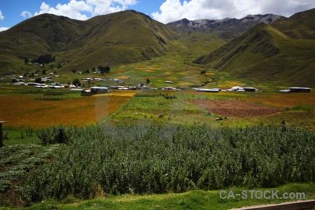 Andes landscape crops peru cloud.