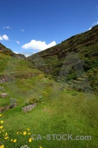 Andes landscape peru terrace inca.