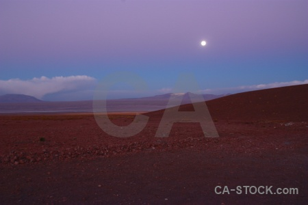 Andes mountain moon bolivia sky.