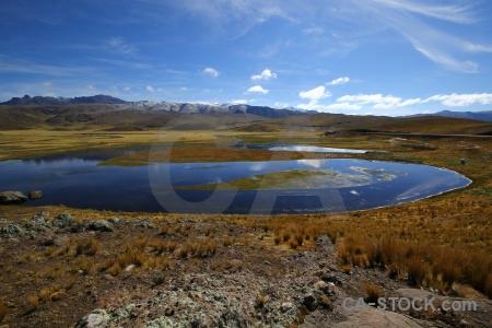 Andes peru puno grass sky.