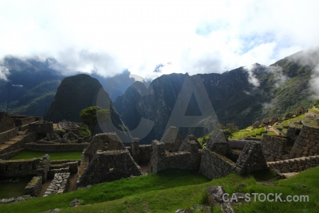 Andes ruin machu picchu south america unesco.