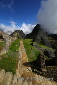 Andes ruin stone inca trail unesco.
