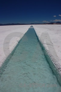 Andes salt flat pool channel altitude.