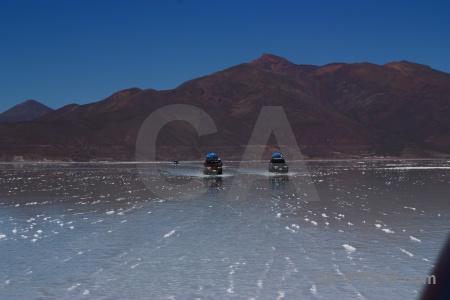 Andes salt lake landscape sky.