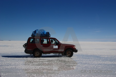 Andes salt sky vehicle lake.