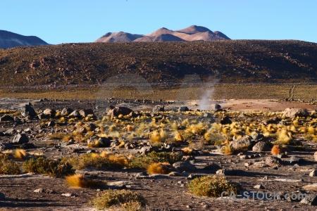 Andes sky landscape chile bush.