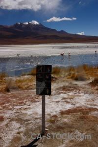 Andes sky salt snowcap laguna hedionda.