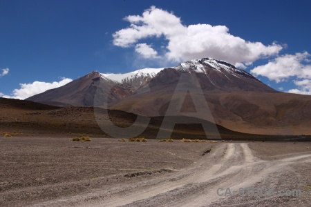 Andes snowcap bolivia mountain south america.