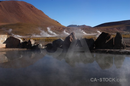 Andes steam pool landscape el tatio.