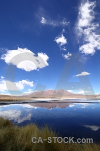 Andes water landscape bolivia reflection.