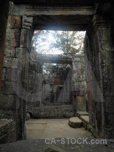 Angkor block siem reap lichen unesco.