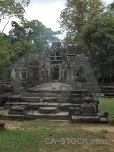 Angkor grass lichen banteay kdei sky.