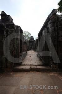 Angkor khmer tree stone sky.