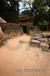 Angkor southeast asia ta prohm stone sky.