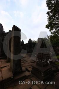 Angkor unesco prasat bayon lichen cambodia.