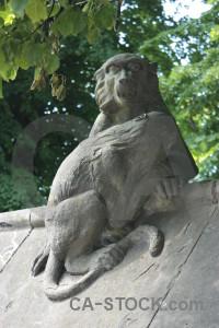 Animal green statue.