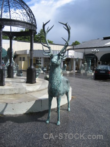 Animal stag statue.