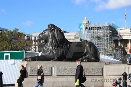 Animal statue blue tiger.