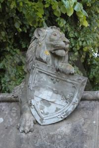 Animal tiger green statue.