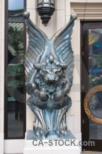 Animal white statue.