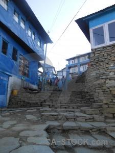 Annapurna sanctuary trek ghoreapani asia stone step.