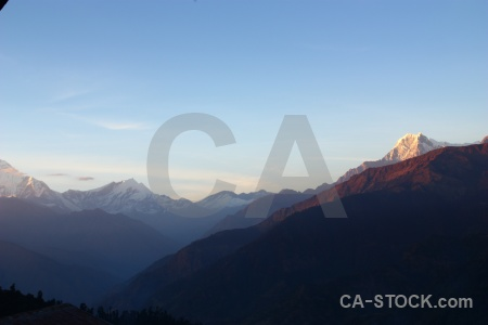 Annapurna sanctuary trek landscape asia nepal cloud.