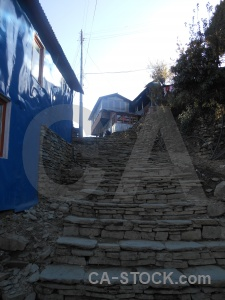 Annapurna sanctuary trek nepal sky step building.