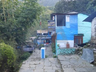 Annapurna sanctuary trek path asia nepal himalayan.