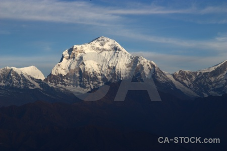 Annapurna sanctuary trek snowcap mountain south asia dhaulagiri.