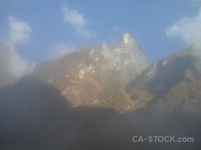 Annapurna sanctuary trek south asia fog valley deurali.