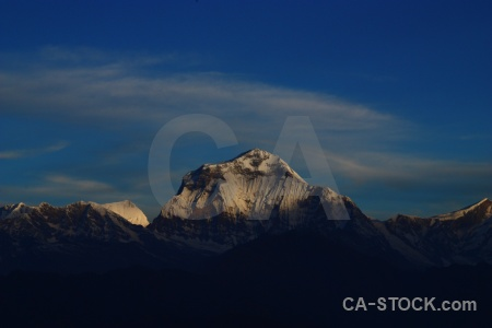 Annapurna sanctuary trek tukche peak landscape sky south asia.
