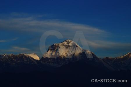 Annapurna sanctuary trek tukche peak landscape sky south asia.