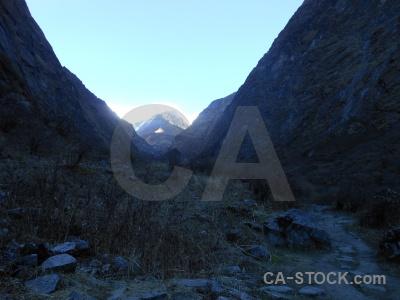 Annapurna sanctuary trek valley modi khola himalayan south asia.