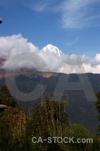 Annapurna south annapurna sanctuary trek snow nepal sky.