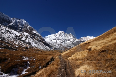 Annapurna south sky snowcap trek asia.