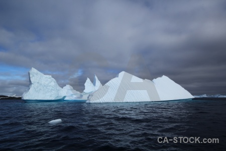 Antarctic peninsula argentine islands iceberg ice water.