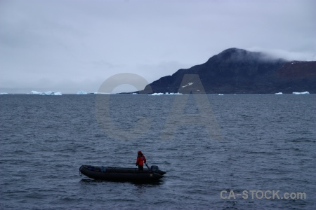 Antarctic peninsula cloud sea mountain dinghy.