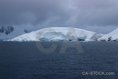 Antarctic peninsula cloud sky water paradise harbour.