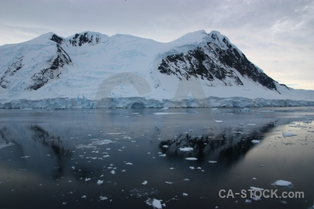 Antarctic peninsula gunnel channel sea water ice.