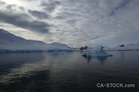 Antarctic peninsula snow marguerite bay cloud snowcap.