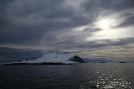 Antarctic peninsula snowcap sky bellingshausen sea marguerite bay.