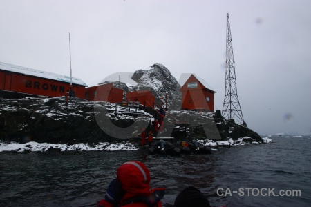 Antarctic peninsula south pole research station paradise harbour building.